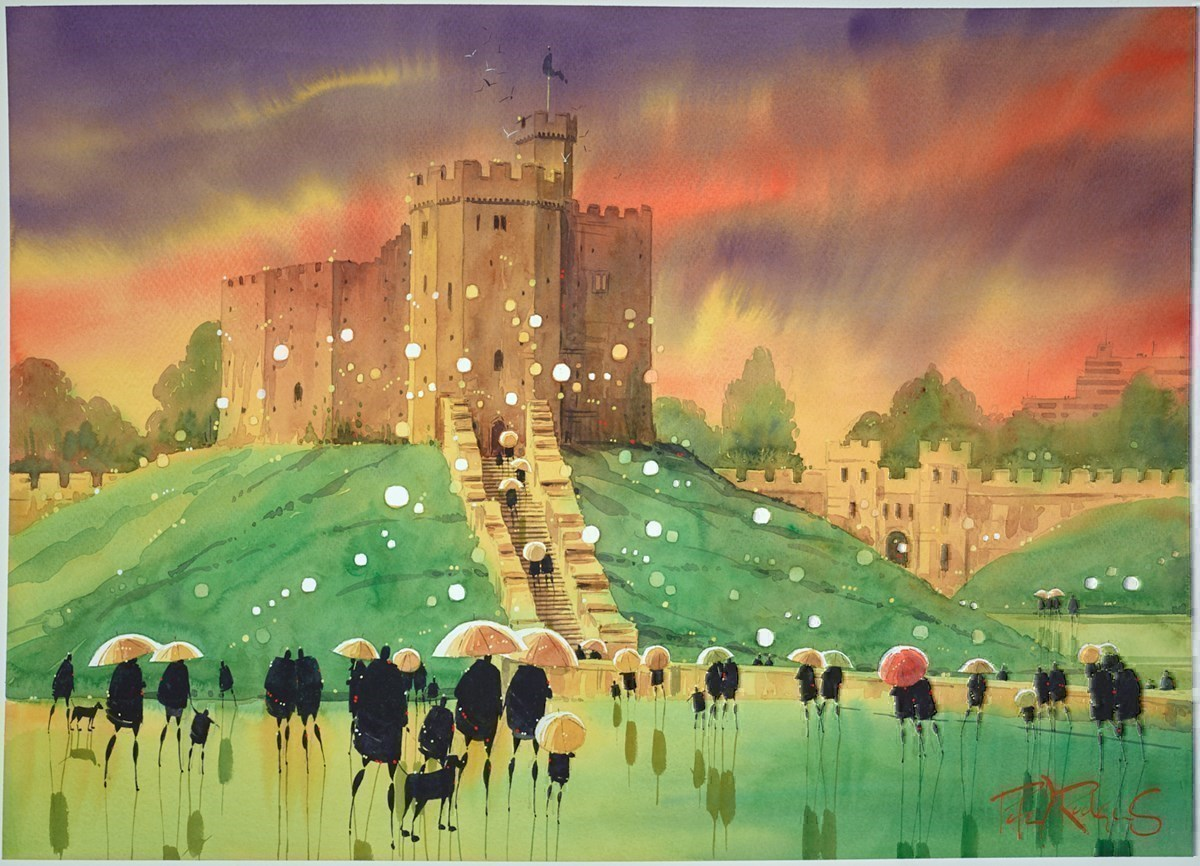 Castle Keep - Cardiff by Peter J Rodgers -  sized 28x20 inches. Available from Whitewall Galleries